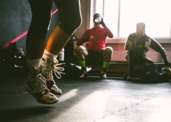 Feet jumping during workout