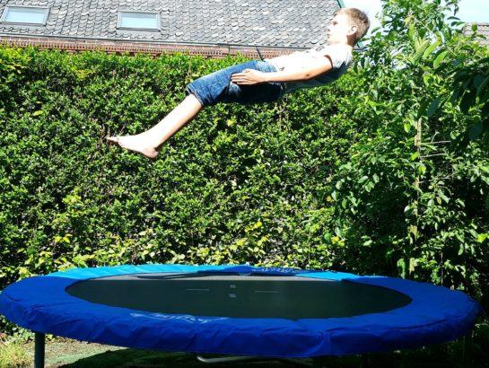Tricks on a trampoline