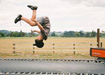 Flips on a trampoline