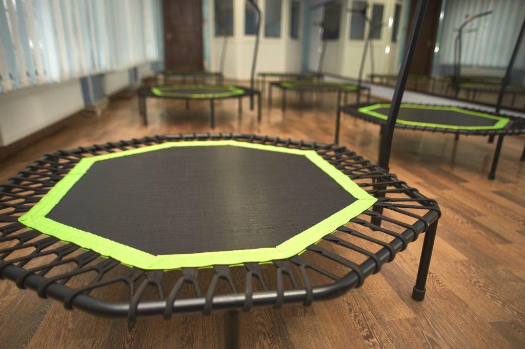 Closeup of a mini trampoline
