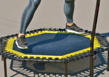 Jumping on an elastic trampoline.